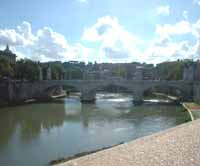 Tevere in lontananza ponte Cavour